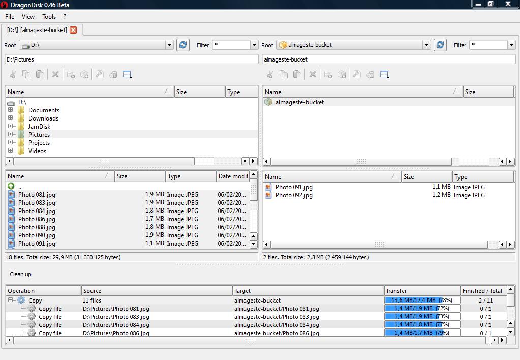 DragonDisk Amazon S3 Client screenshot